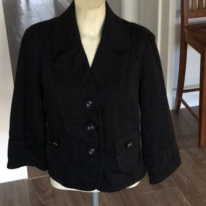 Kenan Black Blazer with Embroidery Size 8